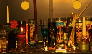 A section of my personal altar.
