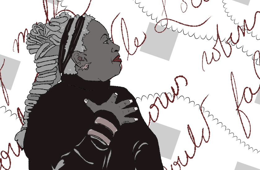 Illustration of Toni Morrison