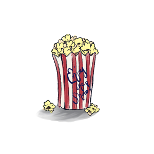 Illustraon of a bag of popcorni